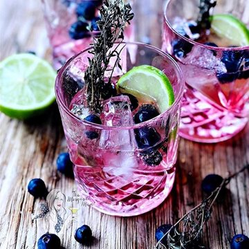 Blooming Berry Gin on The Rocks