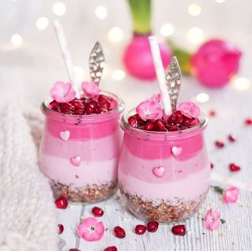 Pink Lady Breakfast Jar