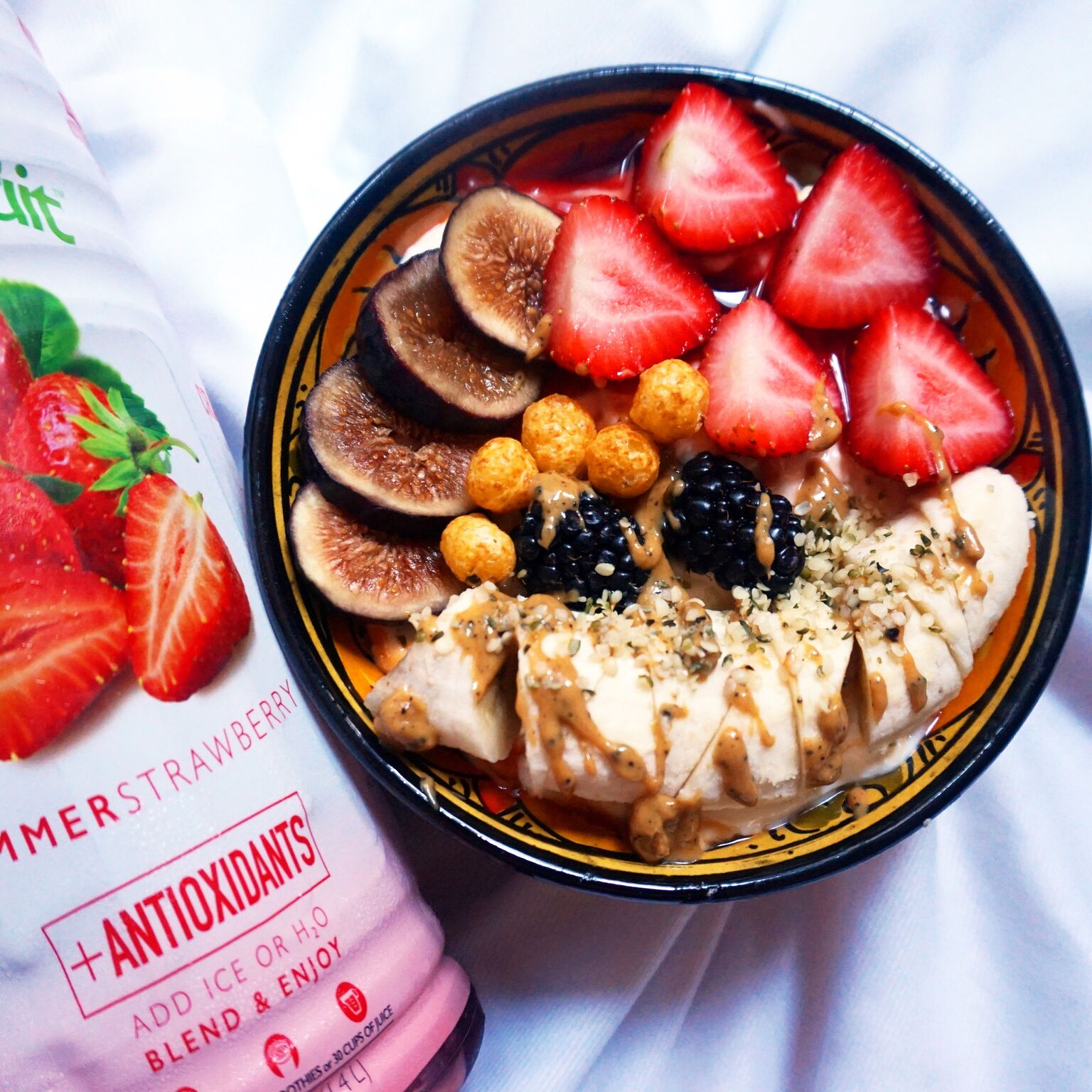 Fresh Fruit Power Bowl Made with Smoothie Mix