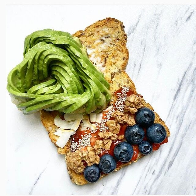 Sweet and Savory Avocado Toast Made with Smoothie Mix
