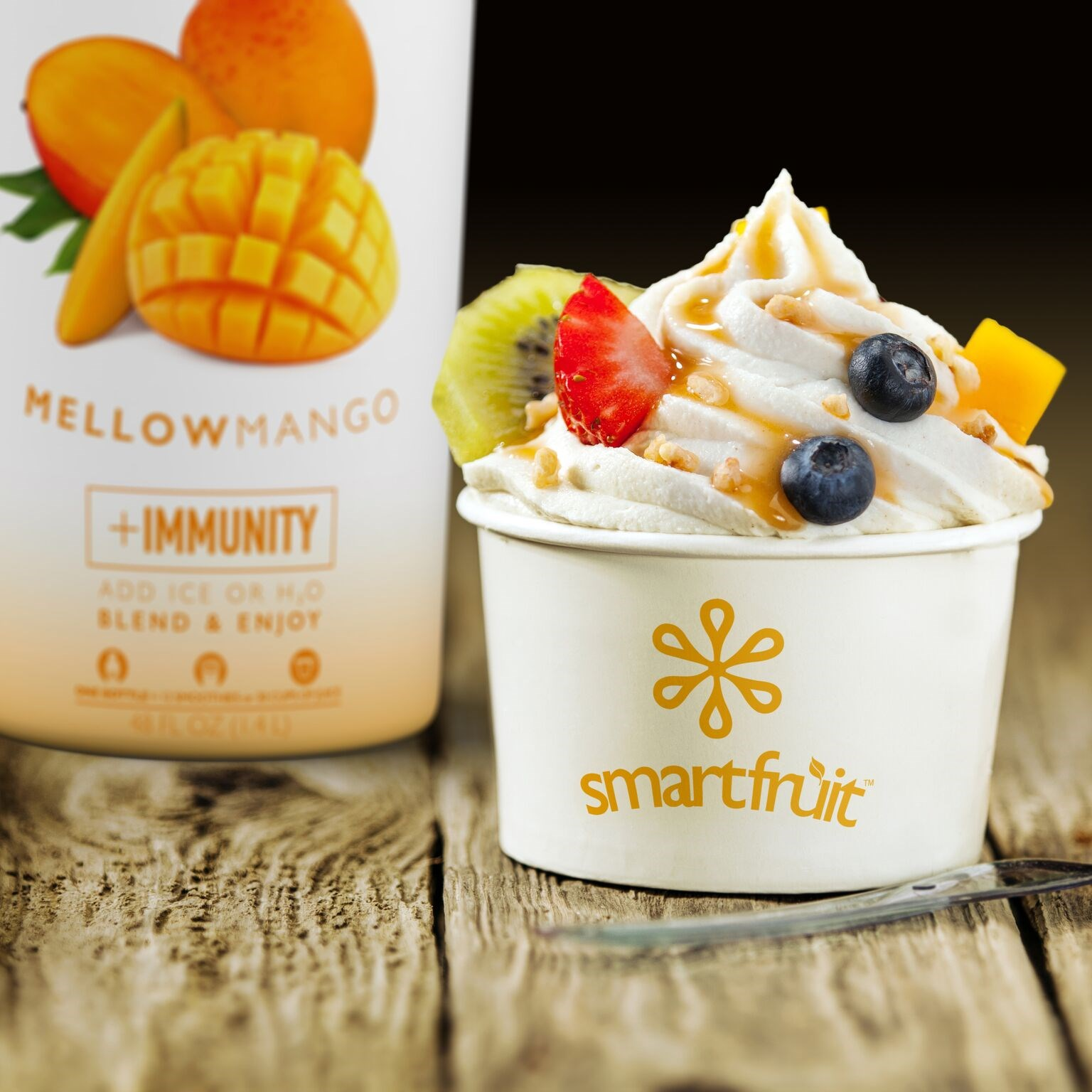 Mellow Mango Frozen Yogurt Made with Smoothie Mix