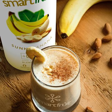 Simple Sunny Banana Chai Made with Smoothie Mix