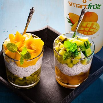 Kiwi and Mango Vegan Parfait Made with Smoothie Mix