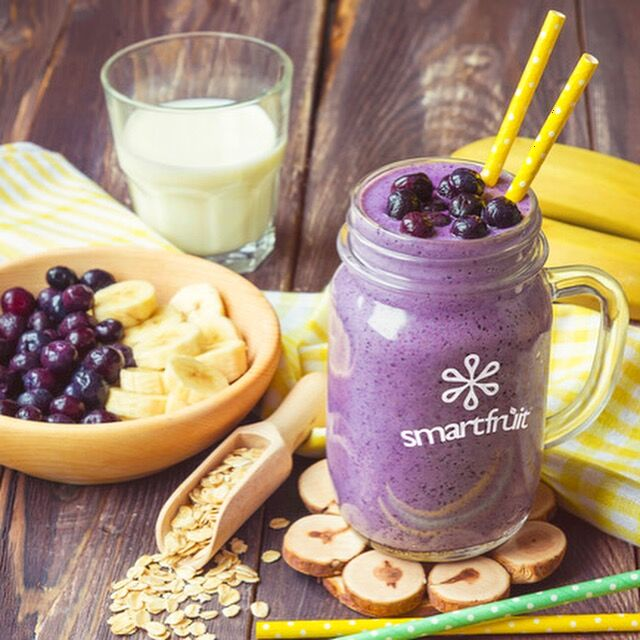 Superfruit All-Stars and Banana Smoothie Made with Smartfruit