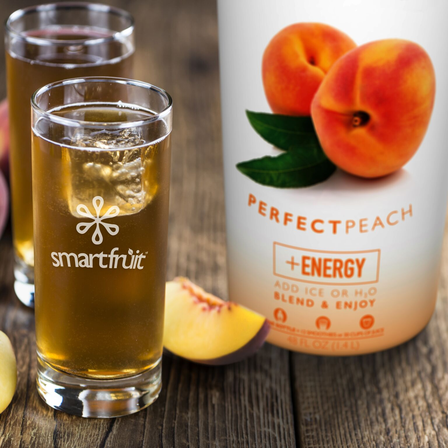 Perfect Peach Sparkling Cider Made with Smoothie Mix
