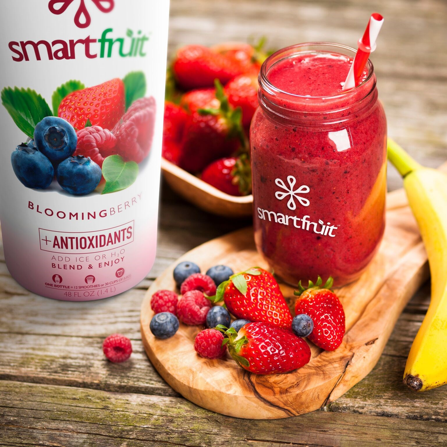Blissful Blooming Berry Smoothie Made with Smartfruit