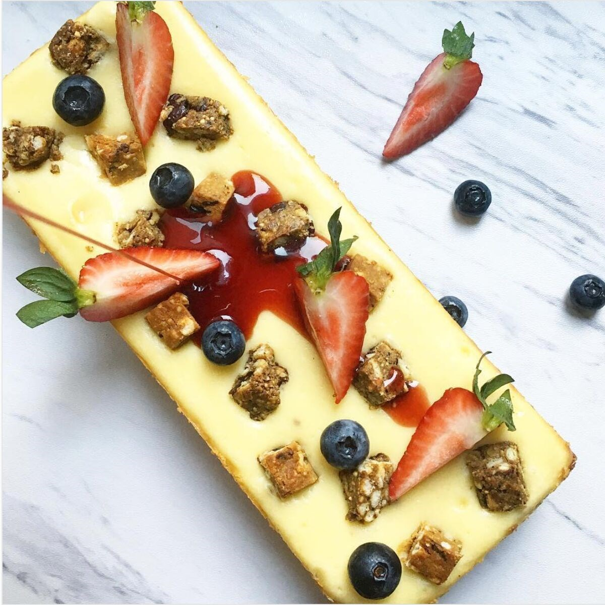 Decadent Cheesecake Topped With Smartfruit