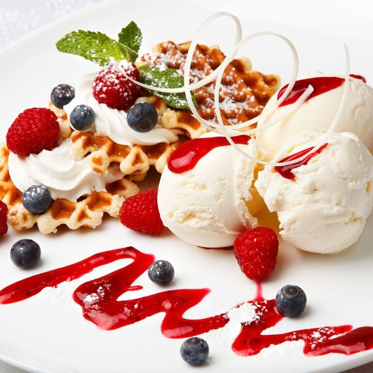 Berry Belgian Waffles Topped with Smartfruit