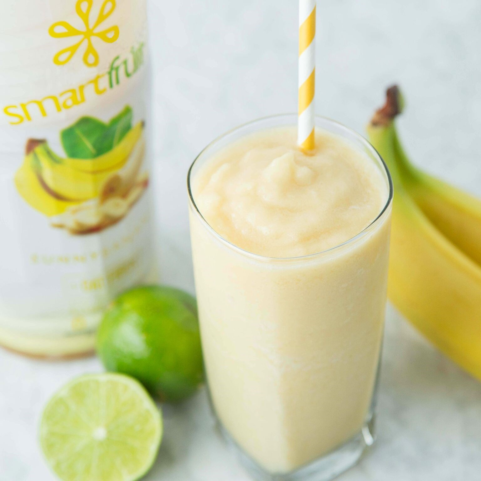 Banana Lime Smoothie Made with Smartfruit