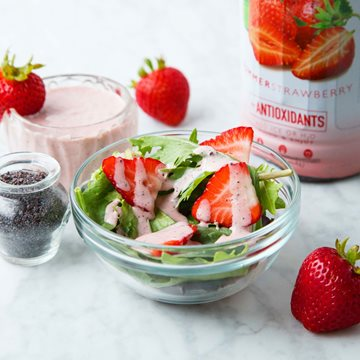 Strawberry Poppy Seed Dressing Made with Smoothie Mix
