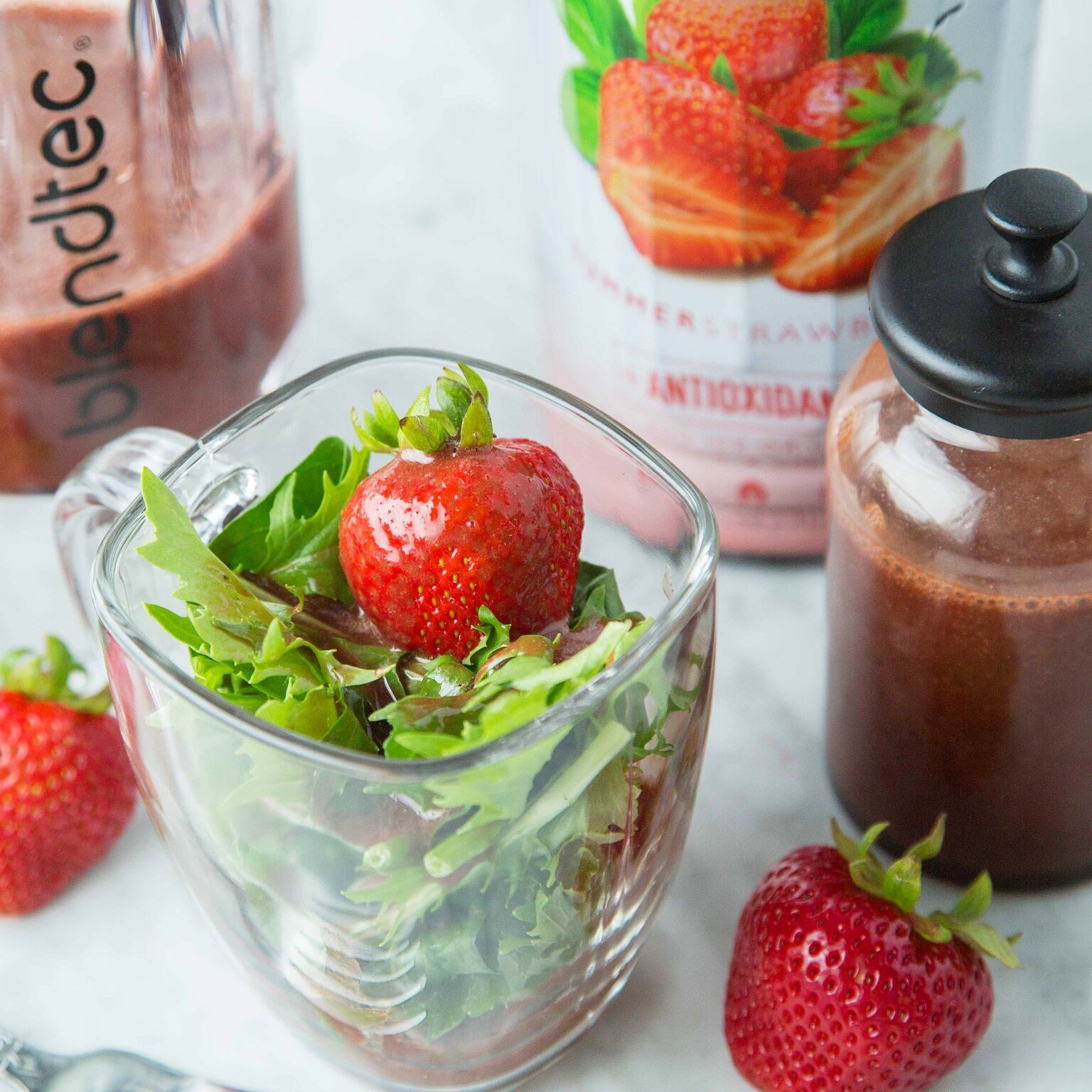 Summer Strawberry Balsamic Dressing Made with Smartfruit
