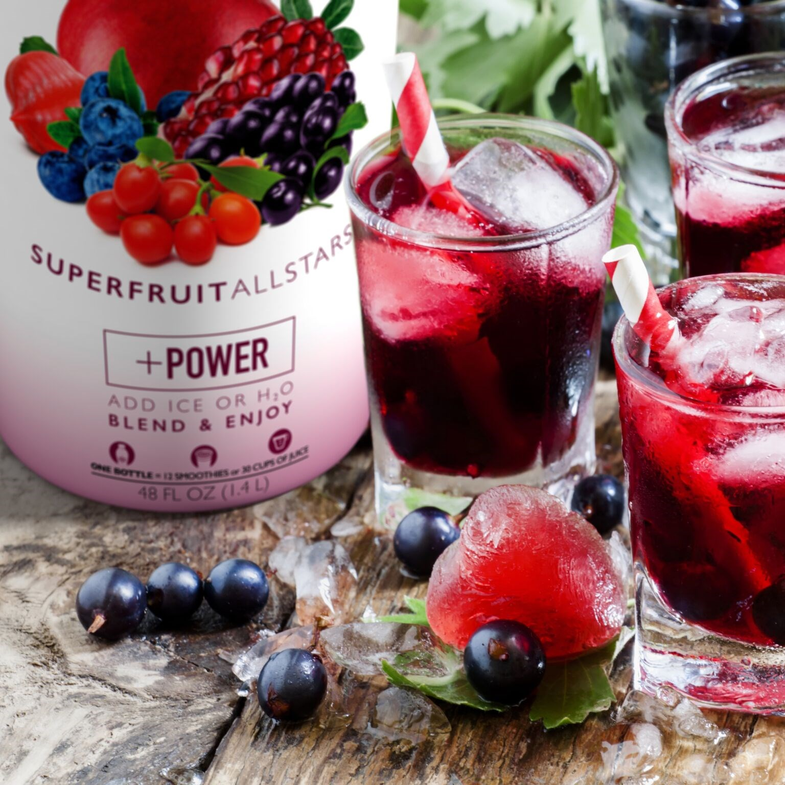 Berrylicious Fruit Juice Made with Smoothie Mix