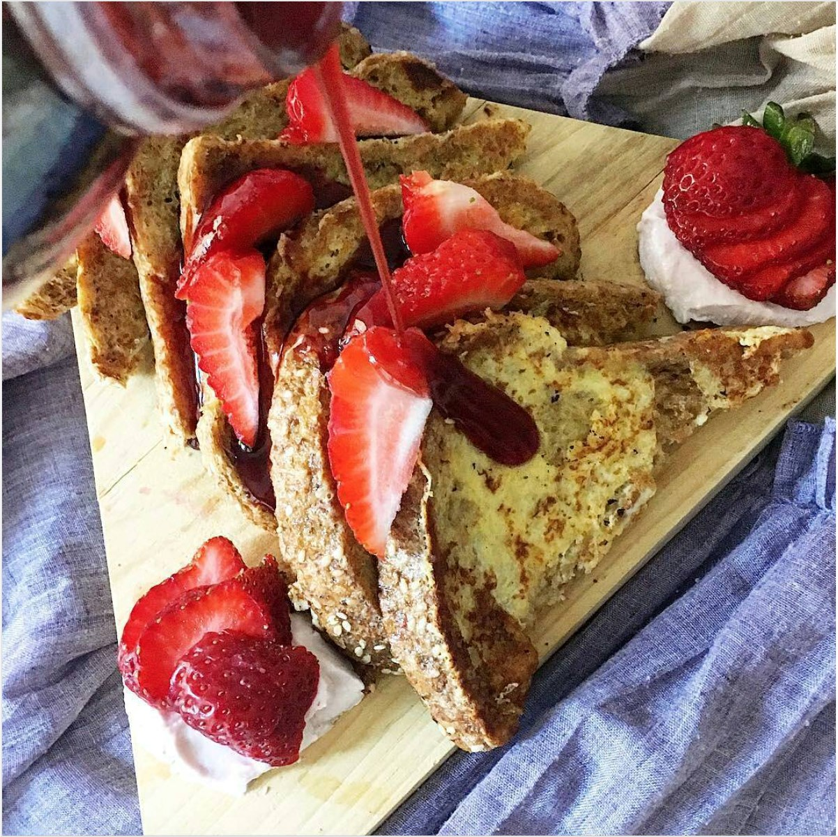 Strawberry French Toast made with Smoothie Mix