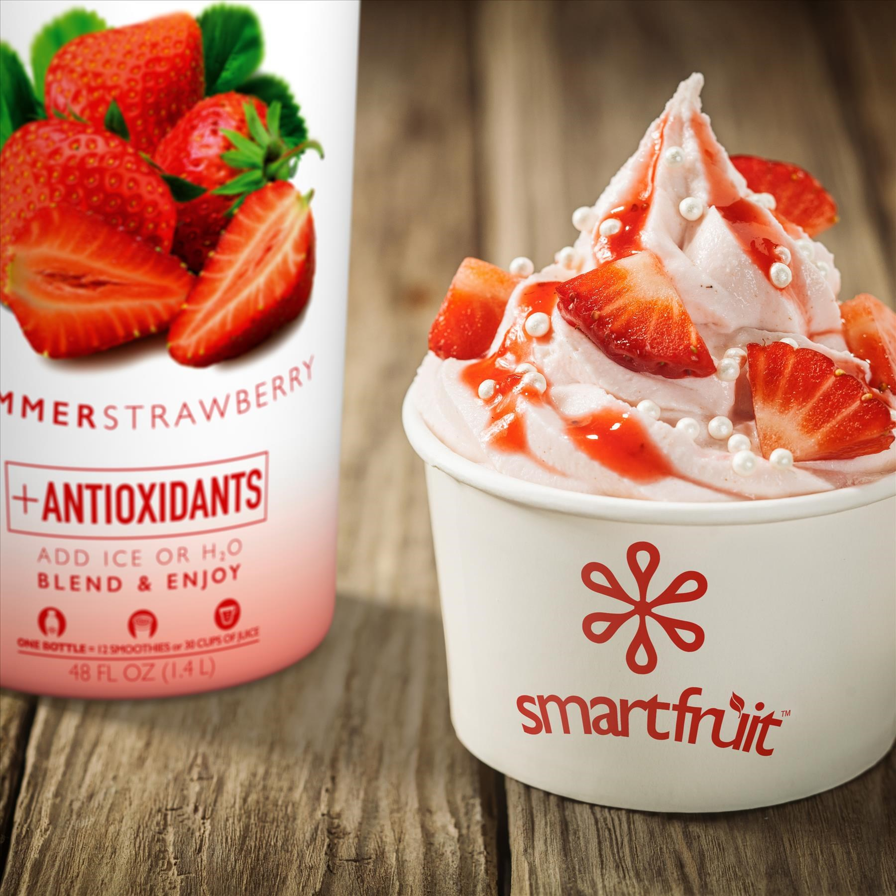 Strawberry Froyo Made with Smoothie Mix