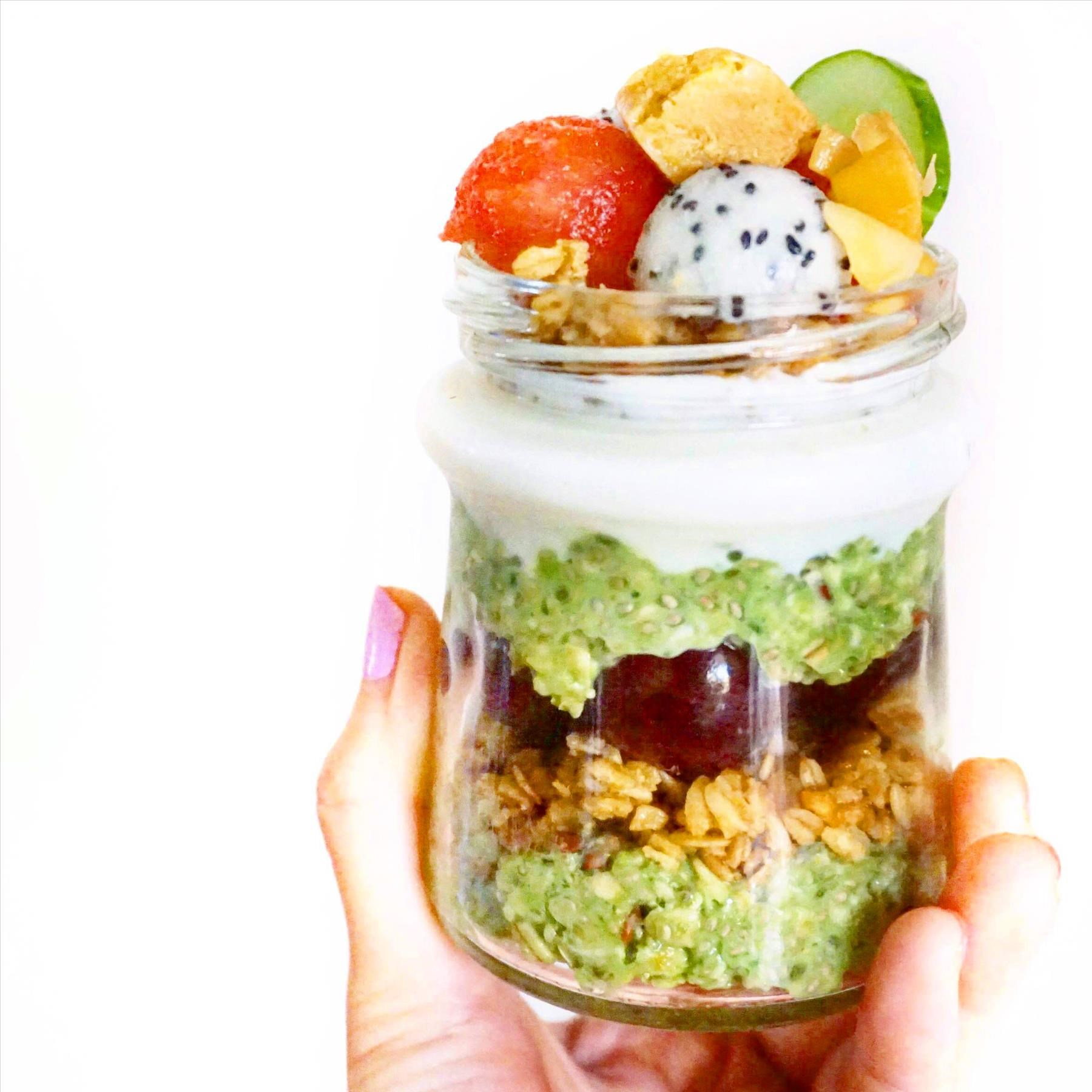 Fruity Harvest Greens Parfait